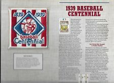 1939 BASEBALL CENTENIAL  WILLABEE & WARD U.S COOPERSTOWN COLLECTION