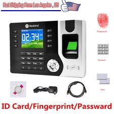Realand Biometric Fingerprint Attendance Time Clock+ ID Card Reader+ Tcp/ip+ Usb