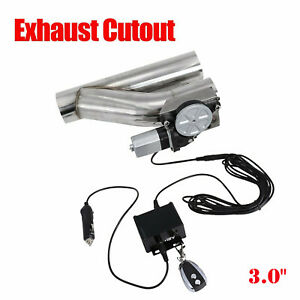 """3"""" Electric Exhaust Downpipe Cutout E-Cut Out Valve CONTROLLER REMOTE KIT NEW"""
