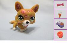 Littlest Pet Shop #1851 Tan Tattoo Postcard Corgi Dog + 1 FREE Access. Authentic