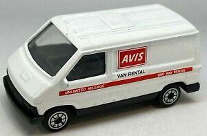 Corgi Juniors J54 White Renault Traffic Bus - AVIS Van Rental - VNM