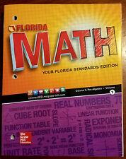 F51 * 8TH GRADE, FLORIDA MATH, COURSE 3, PRE-ALGEBRA, VOLUME 1