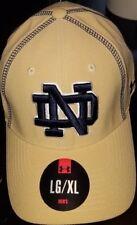 #1243 L/XL Notre Dame Fighting Irish Under Armour Hat-Gold W/Blue Stitching NWT