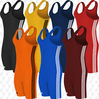 Adidas 3-Stripe Youth or Adult Wrestling Singlet, aS102s, Free Shipping
