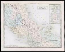 1864-ORIGINALE ANTICO MAPPA Antica Italia con Sardegna & Corsica (23)