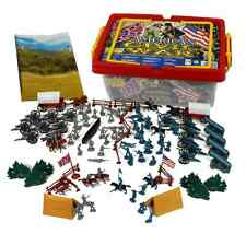 Civil War Army Figure Playset Hingfat Carrying Case Mat 102 Pieces Toy Soldiers