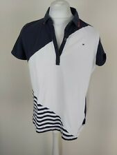 Womens Tommy Hilfiger Polo Shirt Blouse Top Blue Xxl 2xl 4y Chest
