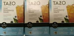Tazo Sweetened Iced Blushberry Black Tea Keurig K-Cup 48 Ct. * BB 4/2016