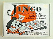1927 JINGO Game from Parker Brothers Salem Mass.