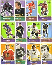 1998-99 UPPER DECK RETRO HOCKEY SET ( 109 CARDS )