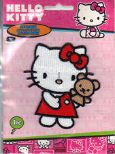 "Hello Kitty Iron On Applique Patch Hello Kitty w/ Bear Puppet 3"" x 2.5"" *New"