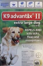 Bayer K9 Advantix II Over 55lbs six pack 6 months supply new sealed EPA product