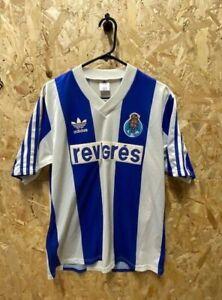 Original 1990/92 adidas FC Porto Home Shirt Size  Medium Mens Blue & White