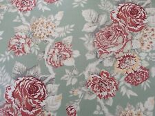 100% Cotton fabric, Shabby Chic Floral Fabric, Sage Green ,Per Meter