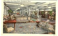 Postcard Main Lobby New Ocean House Swampscott MA