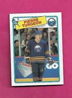 1988-89 TOPPS # 194 SABRES PIERRE TURGEON ROOKIE NRMT CARD (INV# C4835)