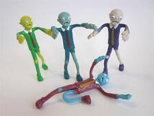 4x UNDEAD ZOMBIE Fidget toy Bendable living/walking un dead walker figure BENDY