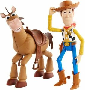 "Disney Pixar Toy Story 4 7"" Woody & Bullseye Figures"