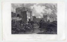 CARLISLE CASTLE - CUMBERLAND - England - Stahlstich 1835