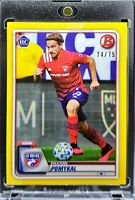 2020 Bowman MLS Paxton Pomykal RC Yellow Parallel 74/75 FC Dallas Hot Prospect!!