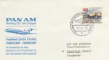 (14304) Germany Pan Am Cover Berlin Tempelhof - Frankfurt 15 September 1966