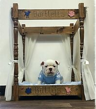 Cat/Dog Double Bunk Bed 4 Poster Style Handmade Personalised