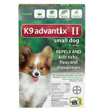 K9 Advantix II for Small Dog 4-10 lbs - 6 Pack (US EPA Approved)