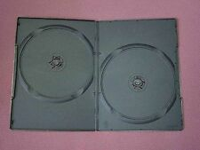 10 Doppi DVD Nero Caso slim 7mm DORSO NUOVO VUOTO copertura regolari