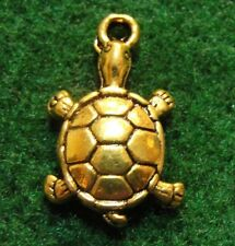 10Pcs. Tibetan Antique Gold Turtle Tortoise Charms Pendant Jewelry Finding Tf21