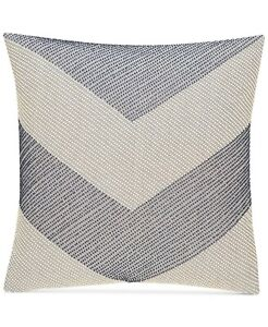 "Hotel Collection Waffle Weave Chambray 18"" x 18"" Square Decorative Pillow Navy"