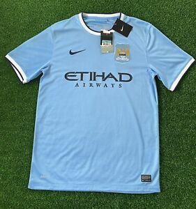 Nike Manchester City Jersey Home Shirt 2013 - 2014 Blue 574863-489 Mens Size M