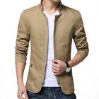 2017 Mens Jacket Slim Fit High Collar Cotton Coat Fashion Casual Outwear M-4XL