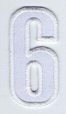ECUSSON PATCHE  THERMOCOLLANT PATCH CHIFFRE BLANC SIX 6