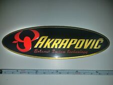 "AKRAPOVIC Metal 5.5"" 3D Brushed Aluminum Emblem Decal Logo Fairing Sticker"