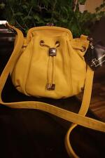 B. Makowsky BETTY MUSTARD  LEATHER CROSSBODY BAG PURSE  (pu400