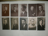 Lot of 10 Vintage RPPC Male Men Man Real Photo Post Card Most Dated 1926