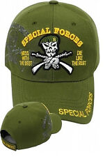 US Army SPECIAL FORCES Ball Cap Olive Ranger Airborne OD Green Beret SHADOW Hat