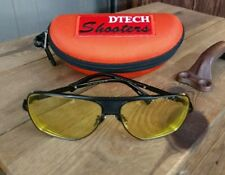 RX SHOOTING GLASSES FROM DTECH. YOUR PRESCRIPTION AND FAVORITE COLOR TINT ADDED
