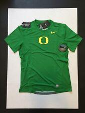 Nike Pro Combat Oregon Ducks Hypercool S/S Fitted Dri-fit Green Shirt Mens Sz L