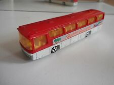 "Majorette Neoplan Bus ""Happy Holidays"" in Red/White"