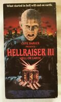 Hellraiser III [3]: Hell on Earth VHS 1992 Horror Anthony Hickox CFP Vid Canada