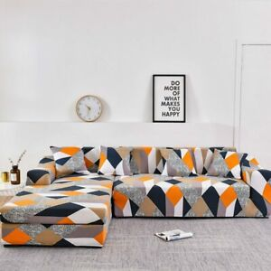 Please Order 2Pc if L-shaped Corner Chaise Longue Sofa cubre sofa  Couch Cover