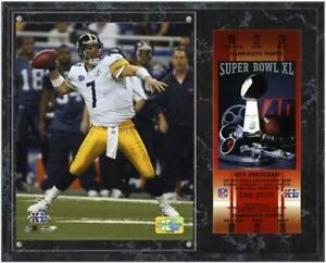 Steelers Super Bowl XL Ben Roethlisberger Plaque with Replica Ticket - Fanatics