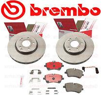 2x Front Brake Rotors+Brake Pads+Sensor Mercedes C240 C280 C320 CLK350 Mercedes
