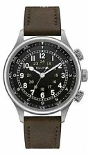 New Bulova 96A245 Automatic 21 Jewel A-15 Pilot 21 Jewel Military Leather Watch