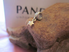 Genuine Pandora Silver 14CT GOLD STAR DANGLE charm ALE 925 790139