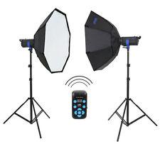 METTLE Studioblitz-Set TORINO 600 (2x 300 WS) Studioblitz-Leuchte Blitz-Anlage