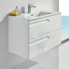"Royo Vitale Premium Bathroom Wall-hung Vanity - Cabinet and Sink 24"" Gloss White"