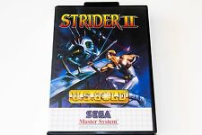 STRIDER 2 - SEGA MASTER SYSTEM - COMPLETE - MINT CONDITION