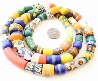 Made in Ghana African mixed Ghana recycled glass African trade beads-Ghana